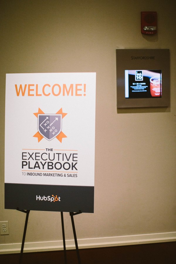 Signage at HubSpot Event (Photo Credit: Zac Wolf)